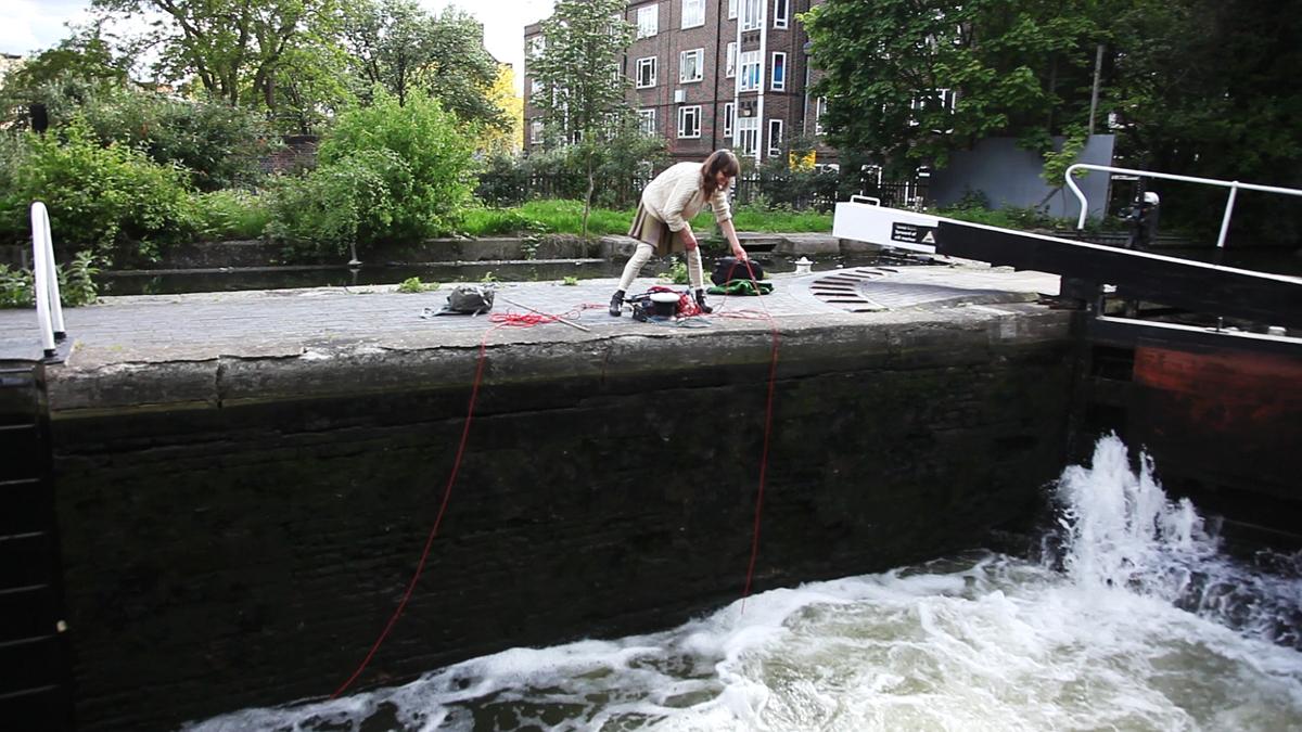 Kaffe Matthews fishing for sounds.